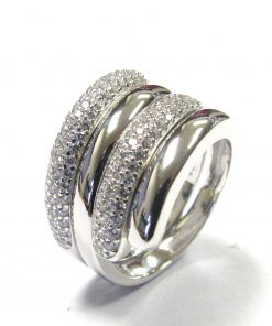 Sterling Silver Interlockable CZ Ring South Africa