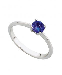 Tanzanite Solitaire Engagement Ring in 18ct White Gold South Africa