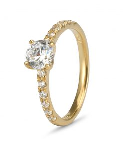 9ct gold engagement rings