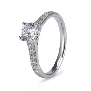 9ct white gold cubic zirconia engagement rings