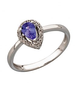 Pear Shaped Tanzanite Ring With Diamonds South Africa