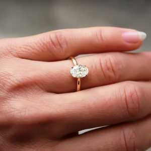 2ct Oval Moissanite Ring in 9ct Gold