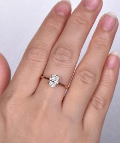 1.5ct Oval Moissanite Engagement Ring South Africa