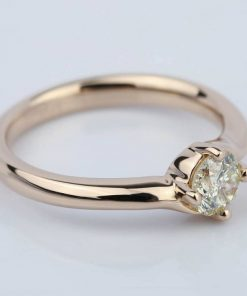 Swirl-Design-Solitaire-Engagement-Ring-in-Rose-Gold- Colour D Clarity SI1