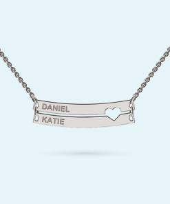 Personalised Double Bar Necklace