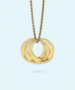 Personalised Stacked Ring Necklace