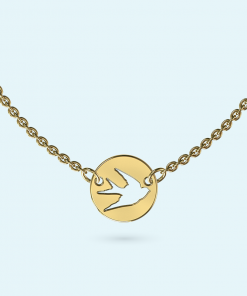 Mini Swallow Necklace Personalised Jewellery