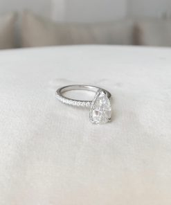 1.5ct Pear Moissanite Engagement Ring South Africa