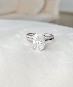 3.5CT Oval Moissanite Wedding Ring Set South Africa