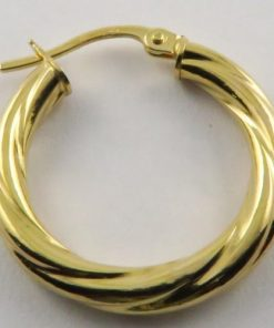 Yellow Gold Twisted Hoop Earrings South Africa