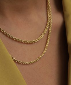 Thick gold rope chain South Africa