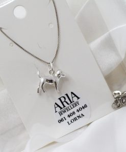 Sterling Silver Doggie Pedant On Chain