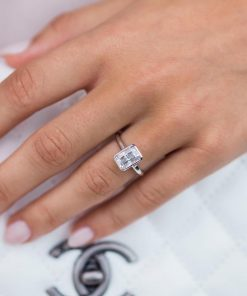 4ct Moissanite Radiant Engagement Ring South Africa