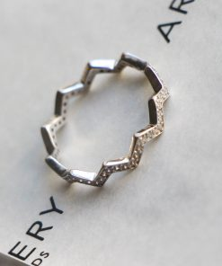 Silver Zigzag Stacking Ring South Africa