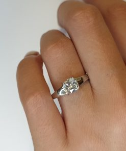 Silver CZ Cushion Engagement Ring South Africa