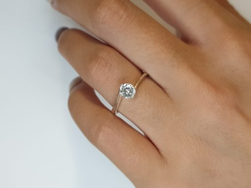 Silver CZ Swirl Engagement Ring South Africa
