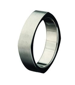 Titanium Square Sided Ring South Africa