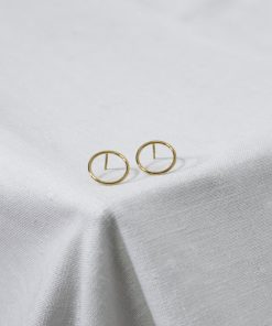 Gold Circle Drop Earrings South Africa